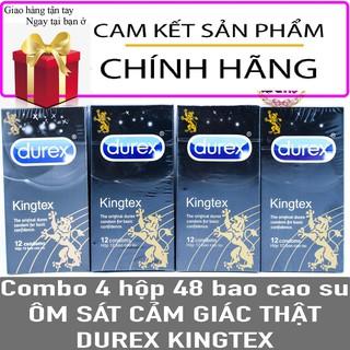 Bao Cao Su Durex KingTex 4 hộp 48 cái