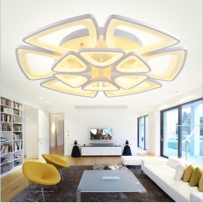 Đèn trần BEAN tiết kiệm năng lượng trang trí nội thất độc đáo - kèm bóng LED chuyên dụng và điều khiển từ xa