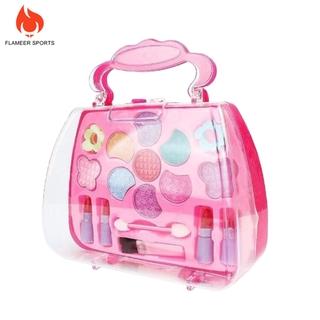 Flameer Sports Girl jewelry children\'s Pretend cosmetics makeup toy Princess Make up Set