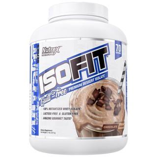 {TẶNG BÌNH LẮC}Nutrex ISOFIT – Whey Protein tinh khiết, 100% Isolate, 70 liều dùng