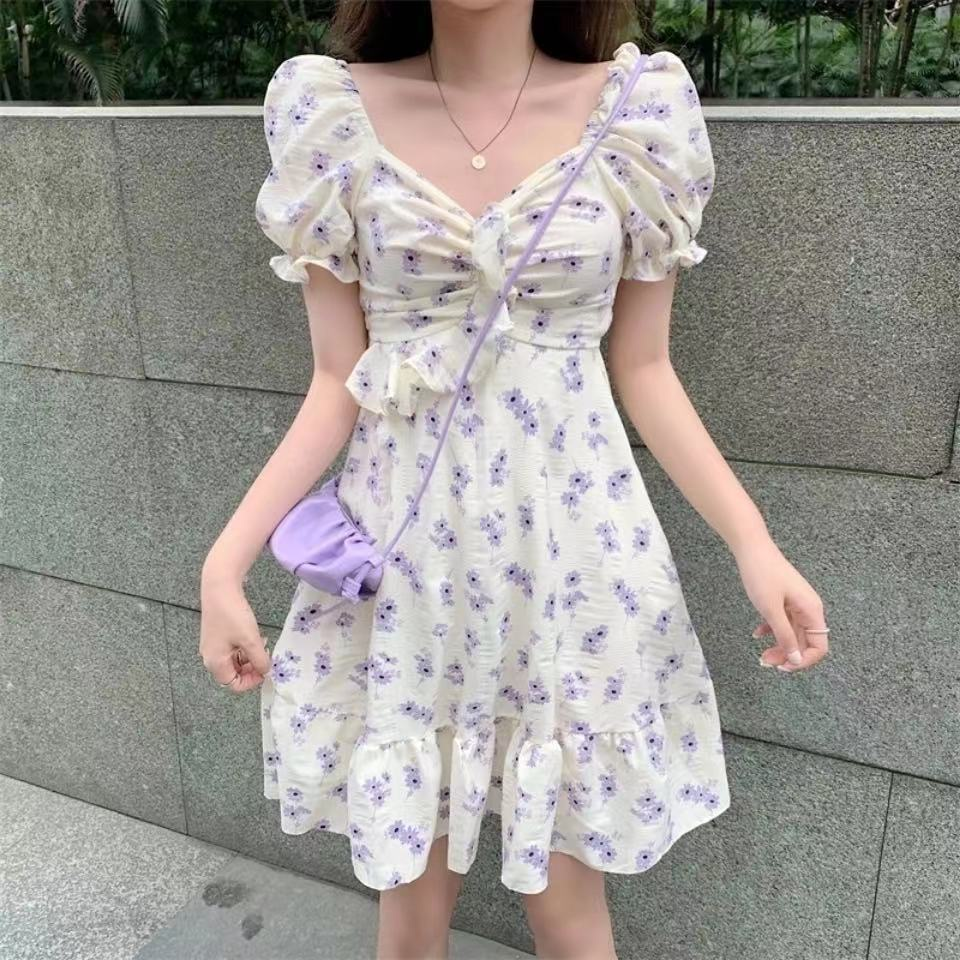 Mặc gì đẹp: Bồng bềnh với Đầm tay phồng họa tiết hoa phong cách Pháp thời trang thanh lịch cho nữ