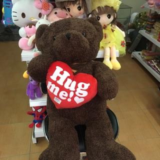 Gấu Tim Hug Me lông xù 1m