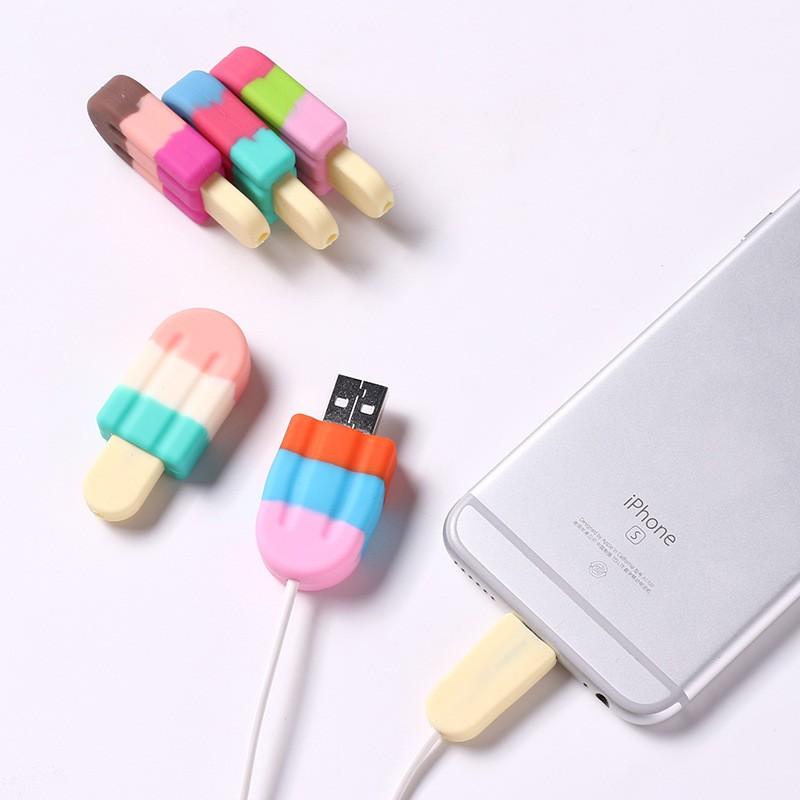Bảo Vệ Cáp Sạc iPhone Hình Cây Kem ( MÀU NGẪU NHIÊN ) [ TI STORE ]