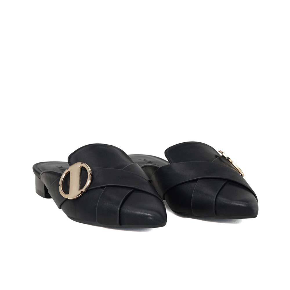 Juno - Giày búp bê mules khóa trang trí BB