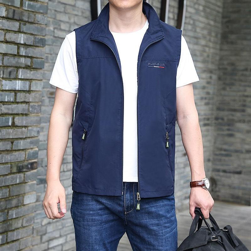 Áo Vest Mỏng Thoáng Khí Thời Trang Cho Nam