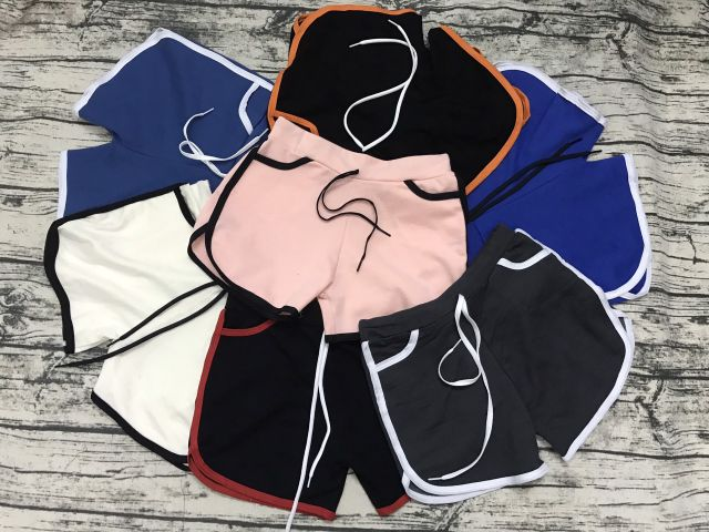 Quần đùi nữ thể thao chất thun cao cấp dày dặn nhiều màu sắc (ảnh và video thật)