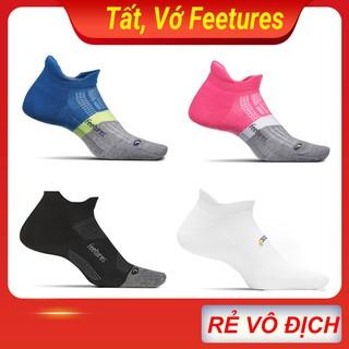 Tất Vớ chạy bộ Feetures cổ ngắn ( SET 4 đôi ) thể thao, chạy bộ nam nữ, hàng dệt kim xuất khẩu Mỹ