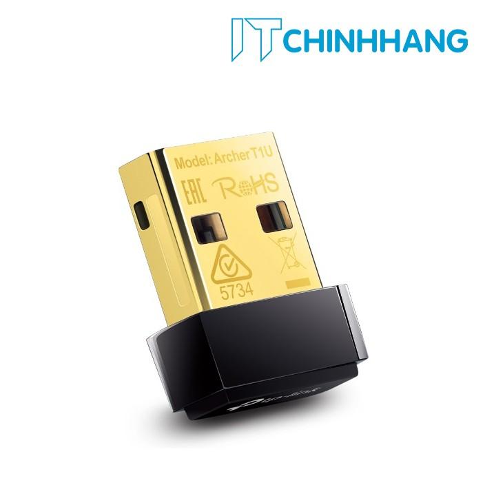 USB Kết Nối Wifi TP-Link T1U Chuẩn N không dây 433Mbps - HÃNG PHÂN PHỐI CHÍNH THỨC