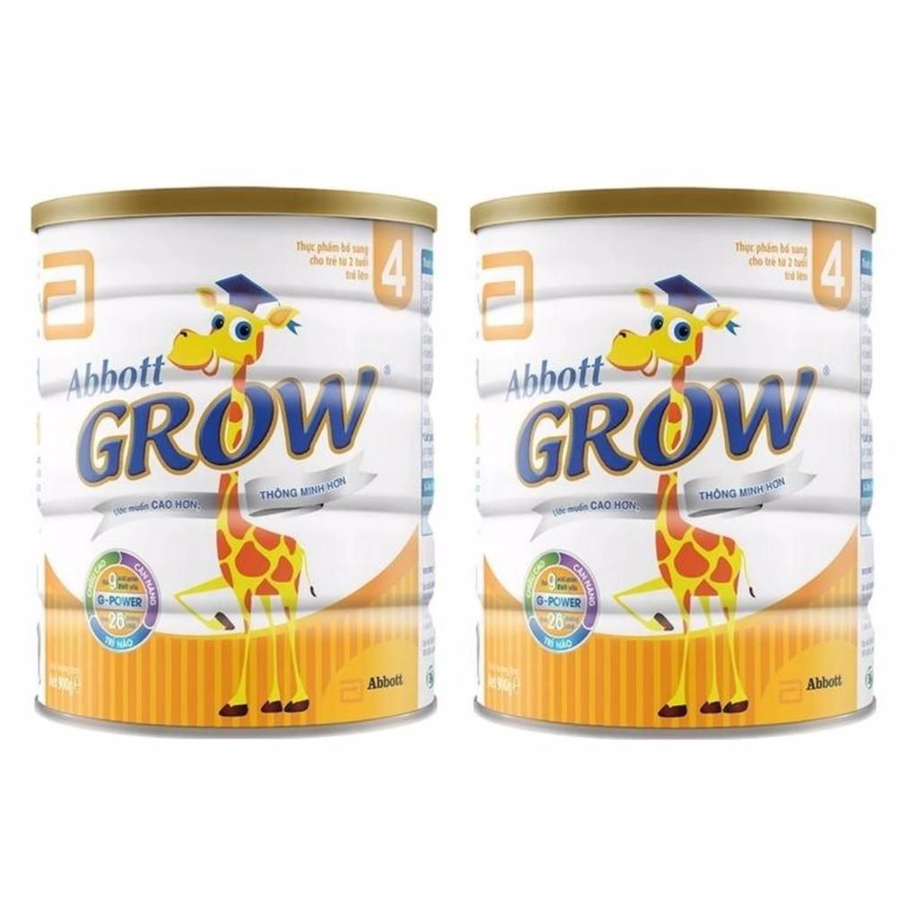 Bộ 2 hộp sữa bột Abbott Grow 4 900g (2-6 tuổi) ĐÃ CÀO MÃ