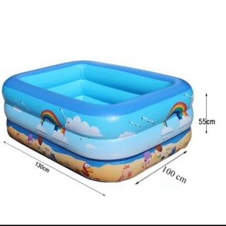 Bể bơi chữ nhật 1m3 cao 3 tầng 2 lớp