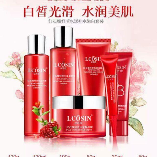 Bộ dưỡng lựu Lcosin 6 sản phẩm