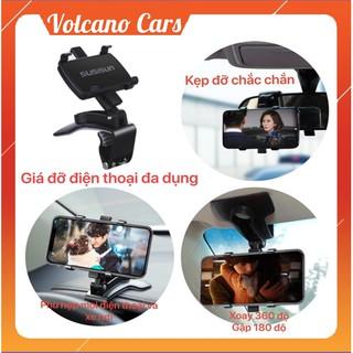 Giá đỡ, kẹp điện thoại trên xe ô tô loại nhựa siêu bền, để bàn, đầu giường, livestream chắc chắn chống rung lắc
