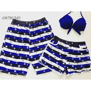 Set quần đôi nam nữ mặc đi biển bỏ neo đẹp
