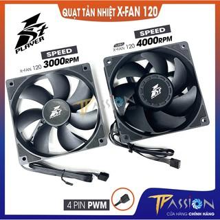 Quạt fan case 12cm 1STPlayer X-FAN 120 PWM - Tốc 3000rpm, 4000rpm, tản nhiệt trâu cày thumbnail