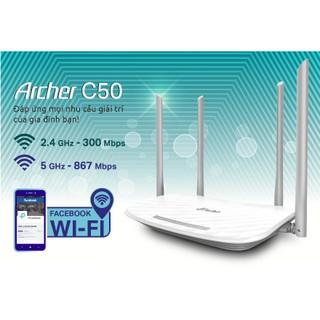 Thiết Bị Router Wi-Fi Băng Tần Kép AC1200 – Archer C50- Hàng Chính Hãng Phân Phối Tại Việt Nam.
