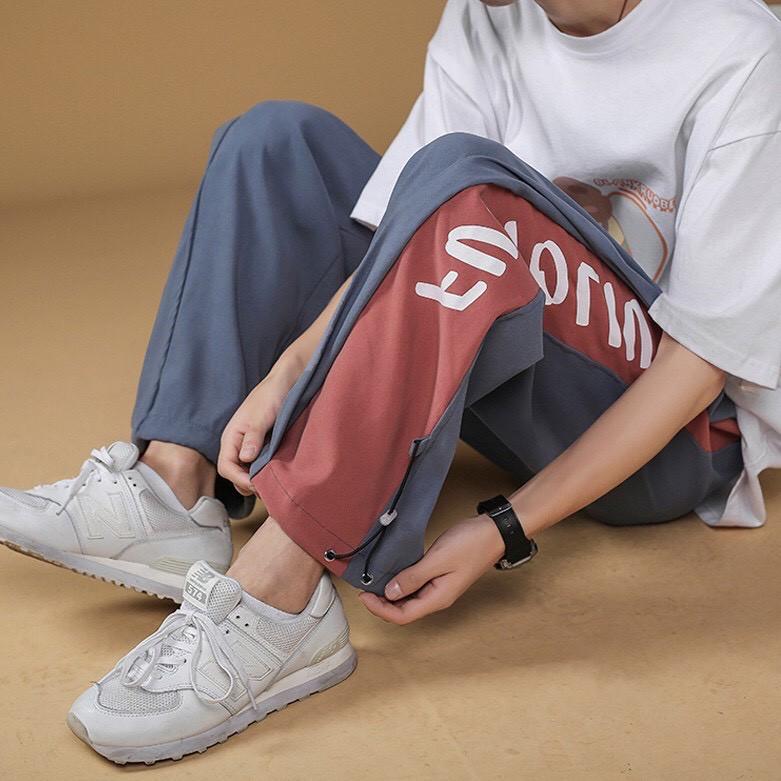 Mặc gì đẹp: Dáng chuẩn với Quần Ống Rộng💖FREESHIP💖Quần Jogger Nam Nữ Unisex FUNTOLIU form rộng-Ba màu Đen Xanh nhat Xanh đậm 3 Size M L XL