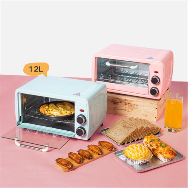Lò nướng điện 12L gia dụng lò nướng đa chức năng Máy làm bánh mì công suất cao