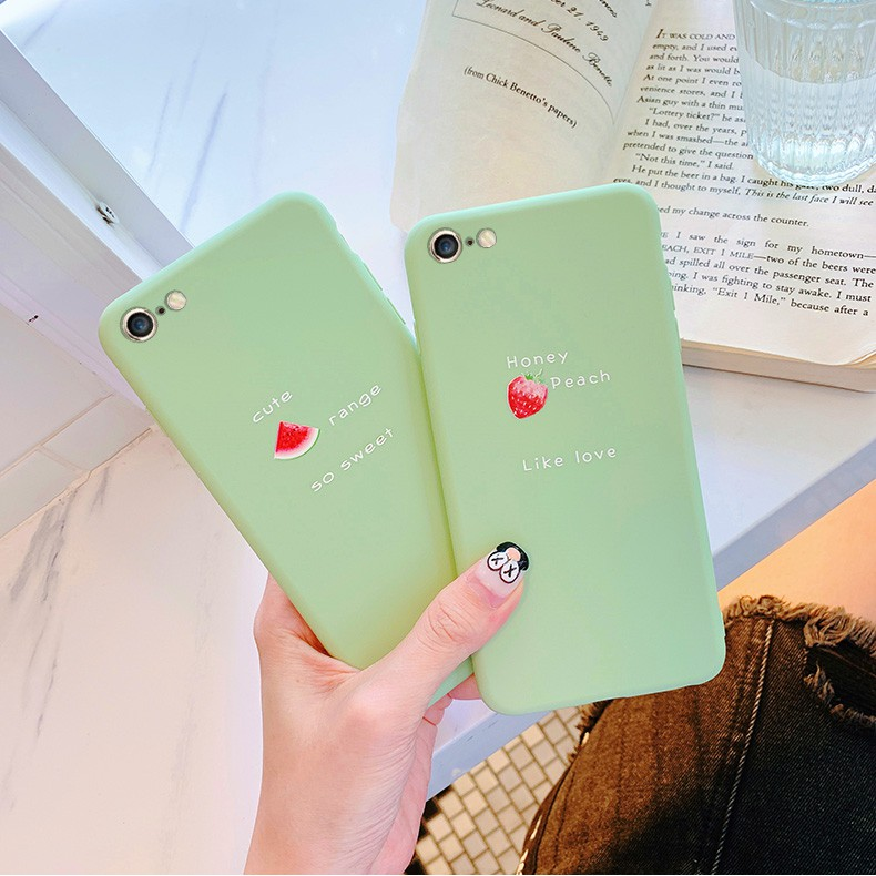 ◇Eight plus 7 following from apple iphone8 matcha green contracted p / 6 soft s silicone splus set of 5 female se