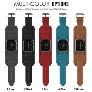 Dây đeo Apple Watch Strap 38/40mm 42/44mm Dây da mềm bền với nội thất có thể tháo rời cho iWatch Series SE 6/5/4/3/2/1
