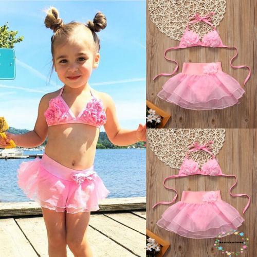 Bộ Bikini hai mảnh xinh xắn cho bé gái