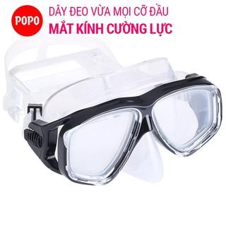 Kính lặn biển POPO dùng đi bơi lội, lặn ngắm san hô với Mắt KÍNH CƯỜNG LỰC cản tia UV bảo vệ mắt thumbnail