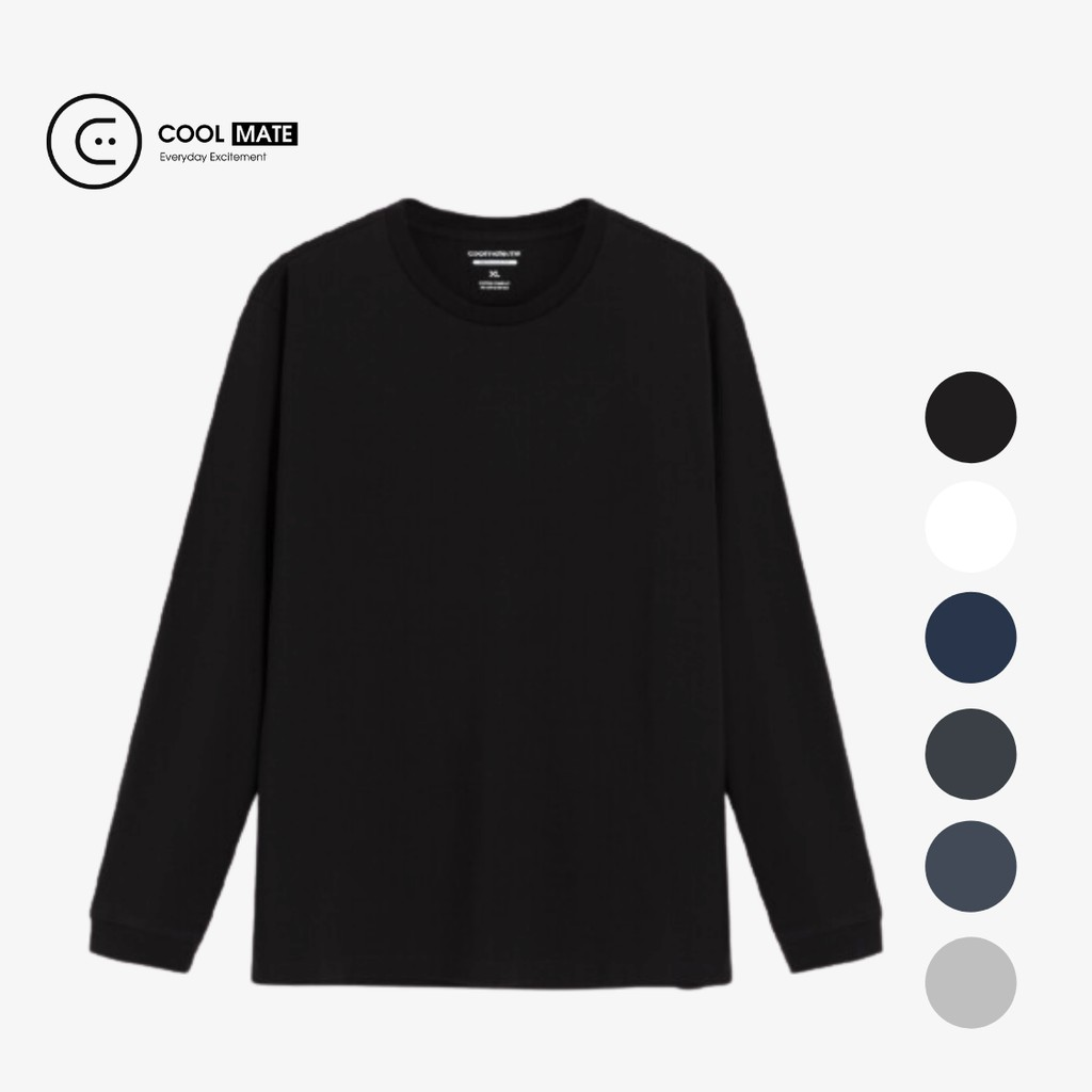 Áo thun dài tay nam Cotton Compact phiên bản Premium thương hiệu Coolmate