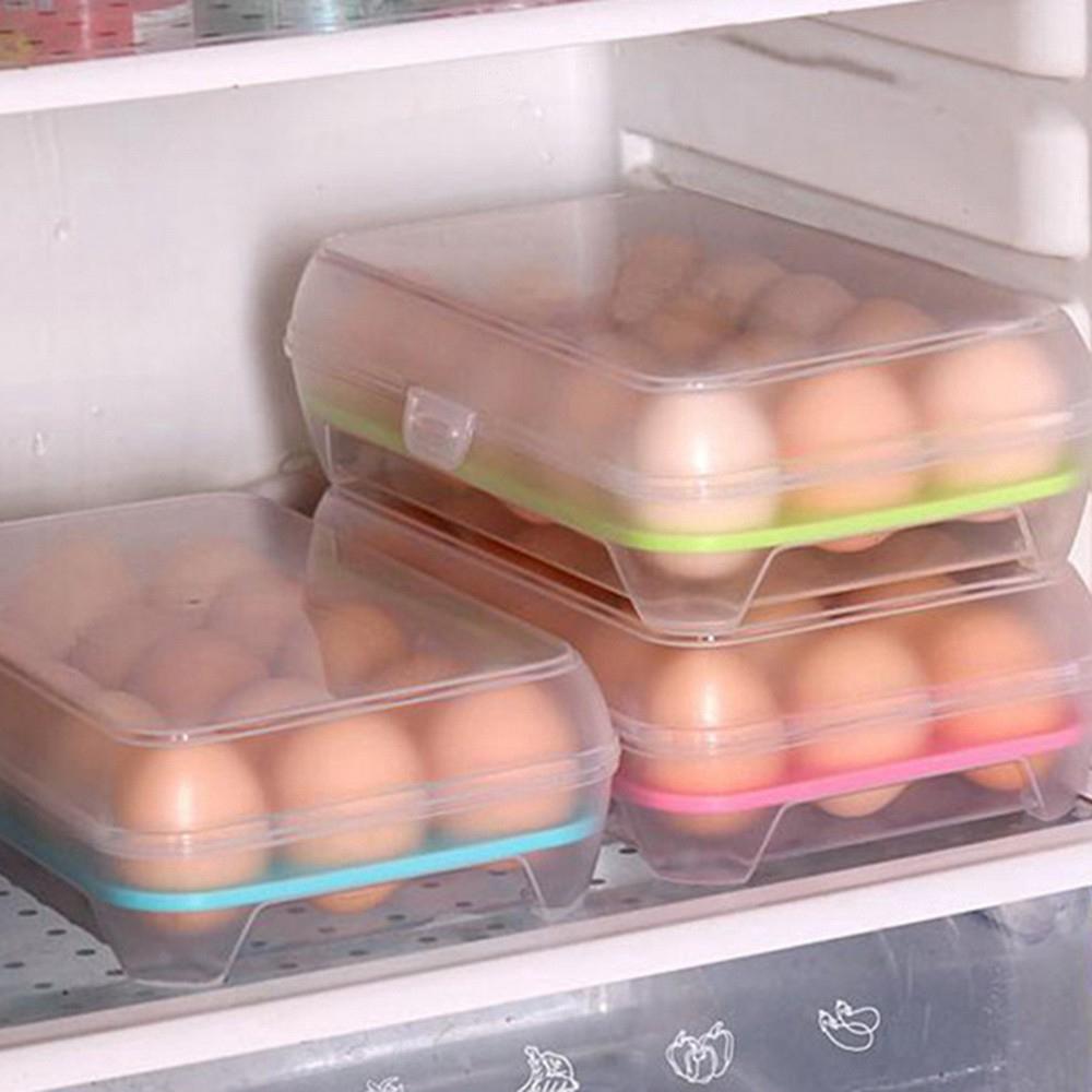 Hộp Đựng Trứng 15 Ngăn Bằng Nhựa Trong Suốt, Giá tháng 11/2020