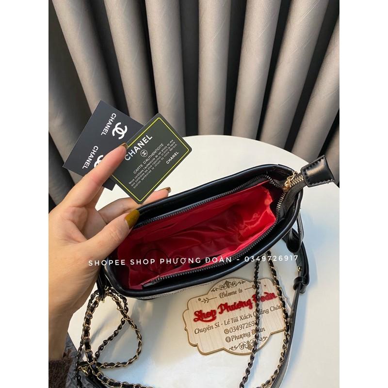 [XẢ KHO GẤP] Túi hoboo sale trần ô đế cứng size 22cm k hộp lót đỏ