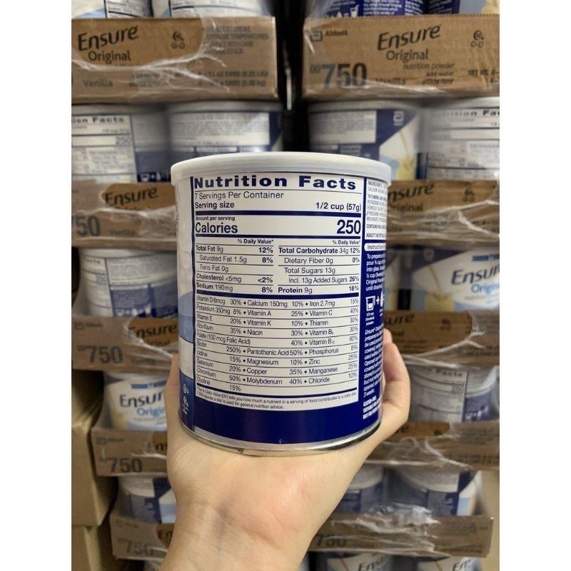 [Mã 267FMCGSALE giảm 8% đơn 500K] Sữa Ensure Mỹ hộp 397g mẫu mới