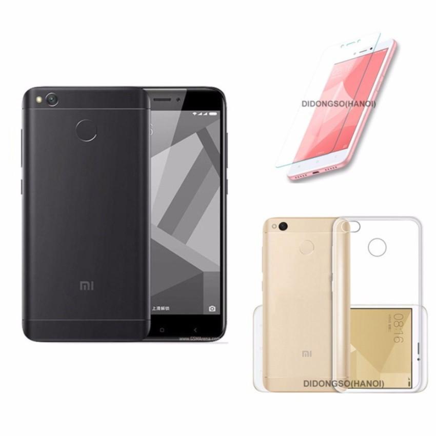 Điện thoại Xiaomi Redmi 4x 16GB (Đen- Vàng- Hồng) + Ốp lưng + Kính cường lực - Hàng nhập khẩu