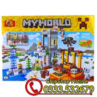 Bộ Lego xếp hình My World MineCraft Bảo Vệ Nông Trại LB-35068.Có 282 chi tiết. Lego Lắp Ráp Cho Bé