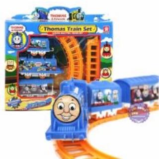 Tàu lửa chay trên đường dây cho bé