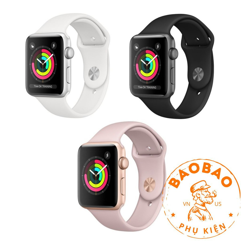 Đồng Hồ Apple Watch Seri3 GPS 38-42 Bản Nhôm - Sport Brand Nguyên Seal