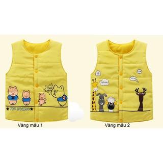 Áo phao ghi lê màu vàng cho bé từ 3-4 tuổi cao khoảng 100-110cm