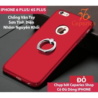 (Có 4 Màu) ỐP LƯNG IPHONE 6 PLUS / 6S PLUS IRING INOX CHỐNG BÁM VÂN TAY SIÊU SANG
