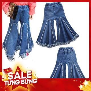 Quần Jeans Dài Ống Loe Thời Trang Cá Tính Cho Bé -Hàng nhập khẩu