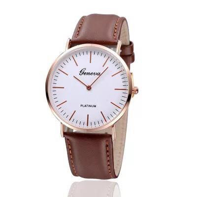 Đồng hồ cặp thời trang nam nữ geneva phong cách lịch lãm GE77