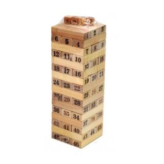 ✔ Đồ chơi rút gỗ 54 thanh xây tòa nhà 18 tầng cho bé (st.tm)