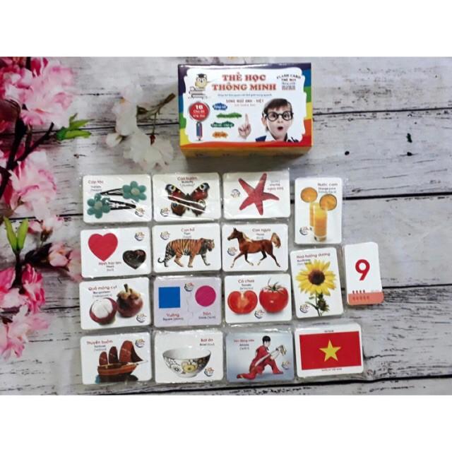 [đồ chơi an toàn] Thẻ học thông minh 16 chủ đề - 416 thẻ học cho bé