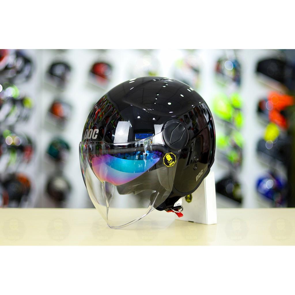 Mũ bảo hiểm 3/4 POC CITY 2 Kính màu đen bóng + túi đựng nón và hộp