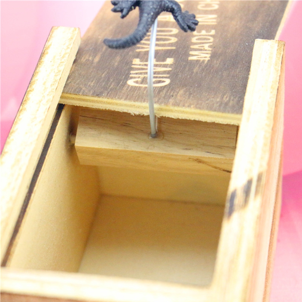 Home Prank Gag Toy Christmas Wooden Gift Scary Office Scare Random
