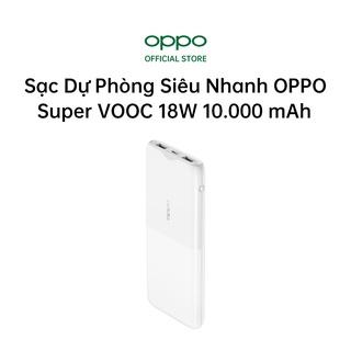 Pin Sạc Dự Phòng Siêu Nhanh OPPO Super VOOC 18W 10.000 mAh PBT02 2 USB Và 1 Type C Hàng Chính Hãng thumbnail