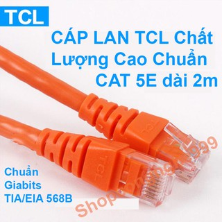 [Mã ELORDER5 giảm 10k đơn 20k] Cable cáp mạng Lan TCL chất lượng cao chuẩn CAT 5E dài 2m tám lõi gigabit