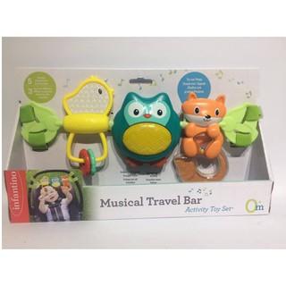 Thanh đồ chơi treo nôi, cũi, xe đẩy, ghế ngồi ô tô hình chim – có nhạc Infantino