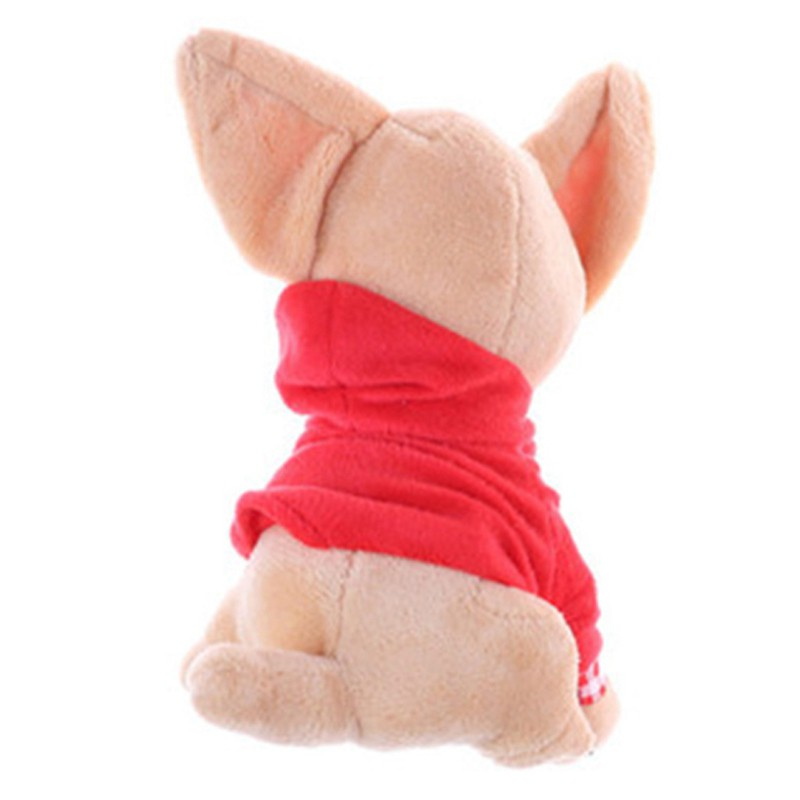 Ready Stock H0SG 1Pcs 17Cm Chihuahua Puppy Kids Toy Kawaii Birthday Gift Red