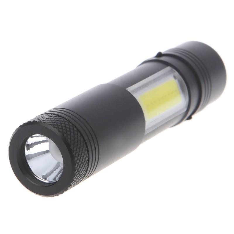 Đèn pin XPE + COB LED mini 12000 lumen với 4 Chế Độ Sáng tích hợp pin AA / 14500