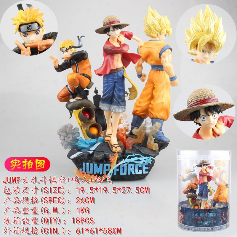 One Piece JUMP Big Fighting Sun Wukong Naruto Naruto Naruto Three Giants Statue Action Figures
