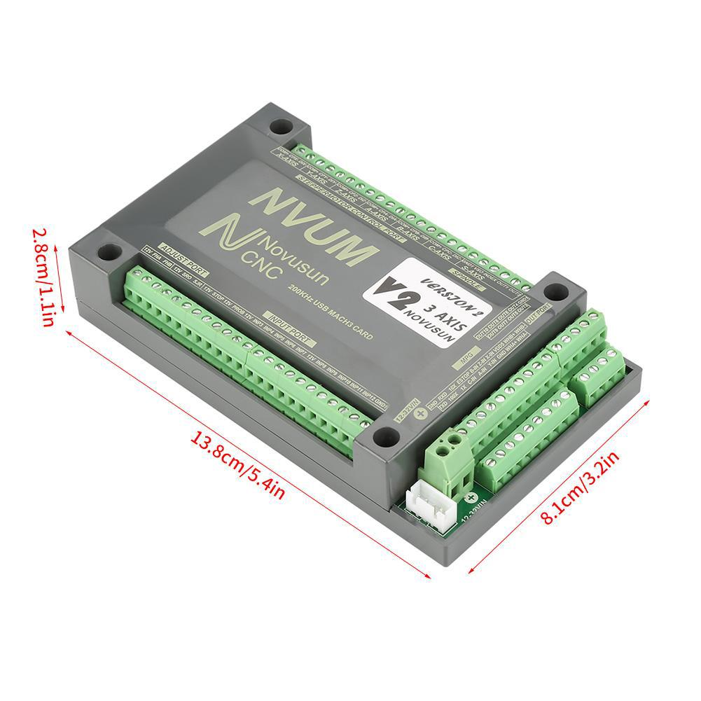 NVUM 3/4 Axis CNC Controller MACH3 Ethernet Motion Board For Stepper