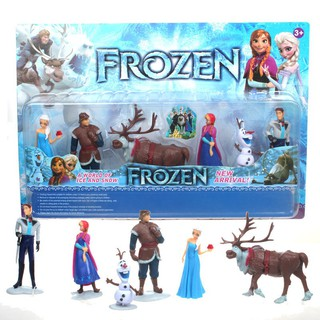 Children gift, doll ornaments, frozen six sets