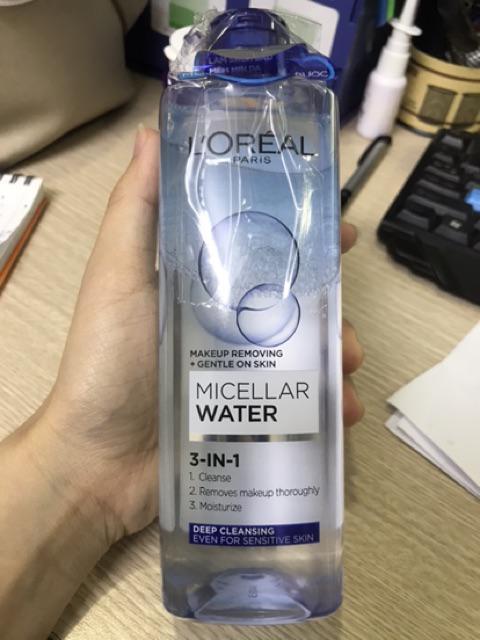 Đánh giá sản phẩm Nước tẩy trang cho mọi loại da L'Oreal Paris 3-in-1 Micellar Water 400ml của ta.xg